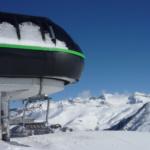 Remonte en una pista de esquí de Aramón Cerler