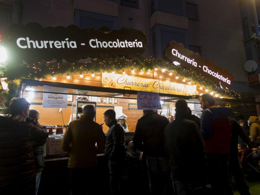 Puesto de churros en las Navidades Mágicas de Torrejón
