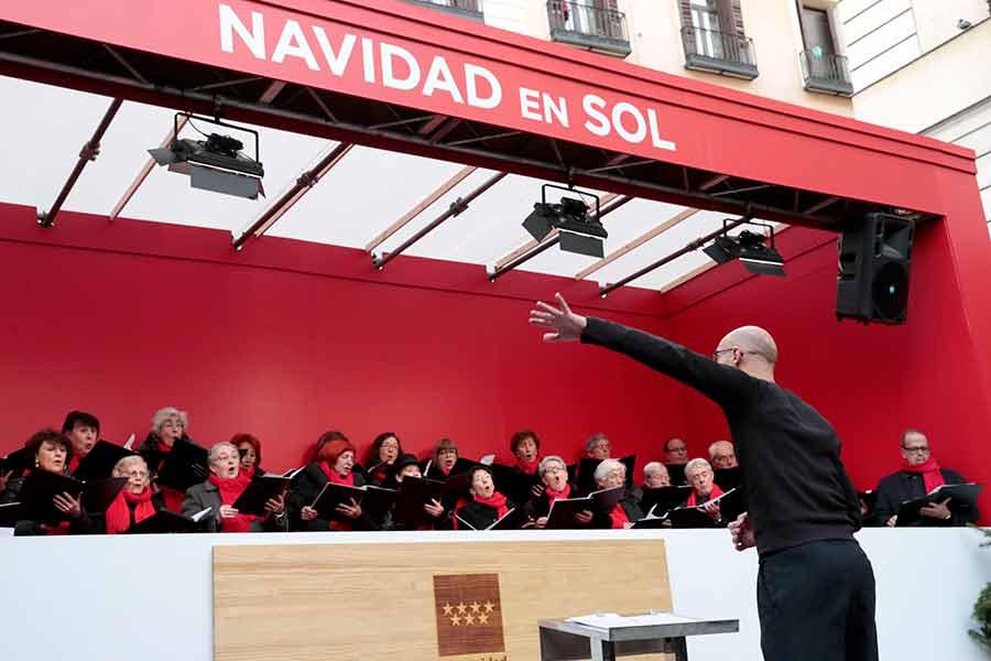 Coros en Pontejos durante la Navidad