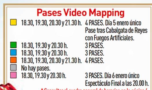 Horarios videomaping en las Navidades Mágicas de Torrejón