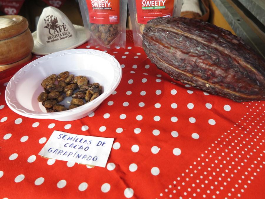 Puesto de productos típicos en La Navideña