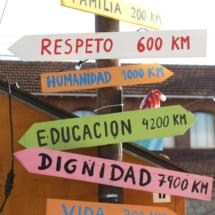 Instalación de La Navideña, en el Matadero de Madrid