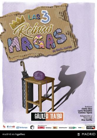 Cartel de la obra 'Las Tres Reinas Magas', de Gloria Fuertes