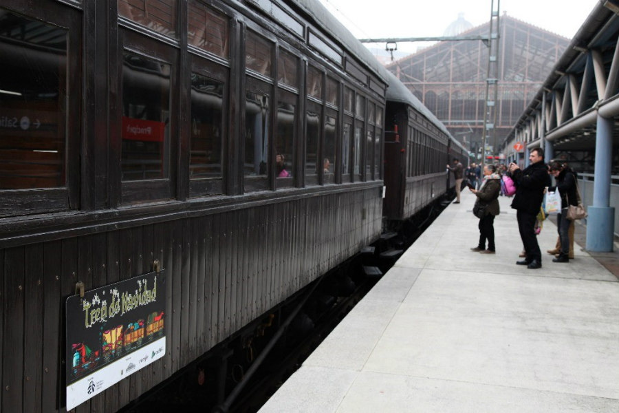 Tren de Navidad 2017 en la estación de Príncipe Pío de Madrid