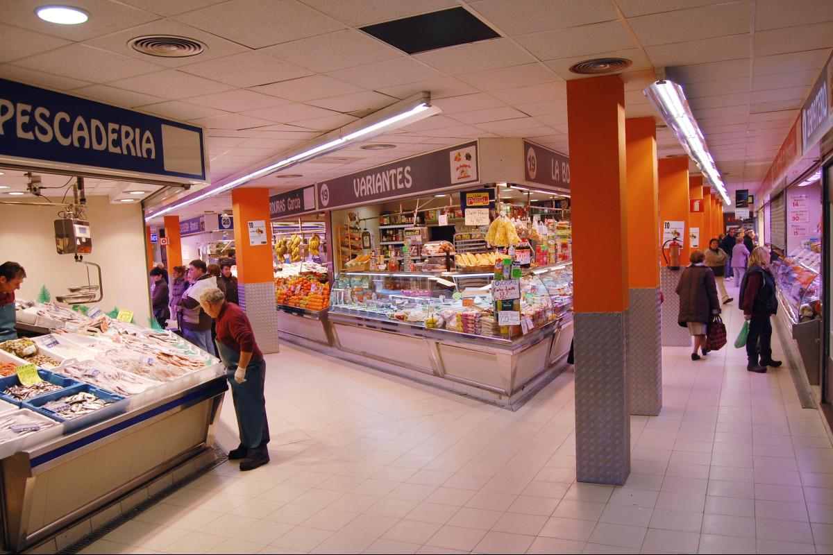 Galería de un mercado tracicional de Madrid
