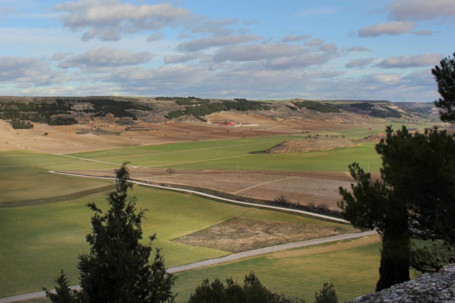 Vistas desde el Castillo de Peñafiel, en Valladolid