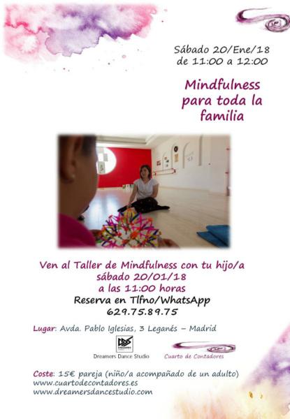 Sesión de 'mindfulness' para familias en Leganés (Madrid)