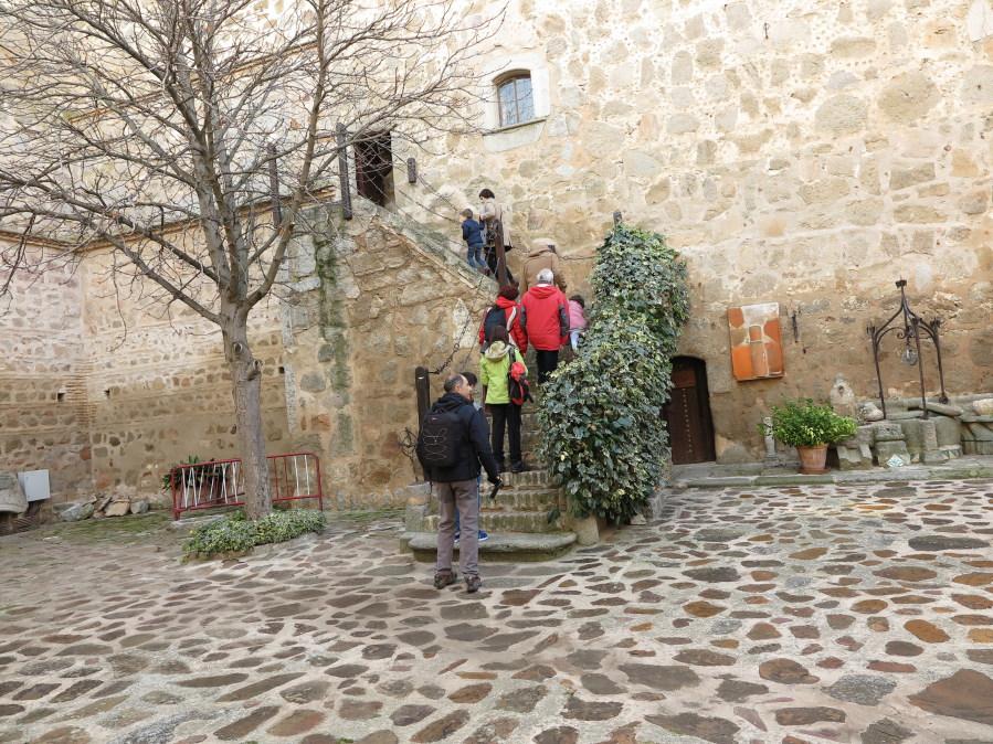 Patio del Castillo de Orgaz, durante nuestra visita