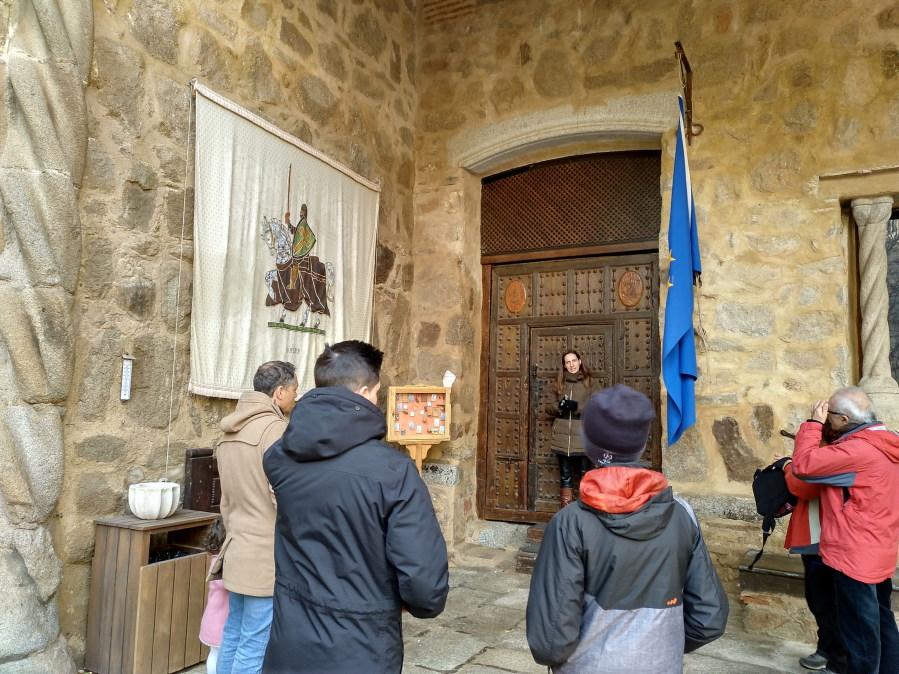 Interior del Castillo de Orgaz, en nuestra visita guiada