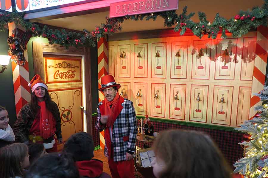 Recepción en la casa de Papá Noel