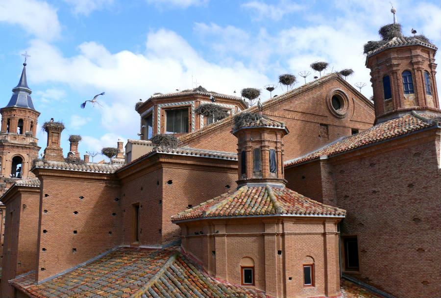 Nidos de cigüeña en San Miguel de Alfaro