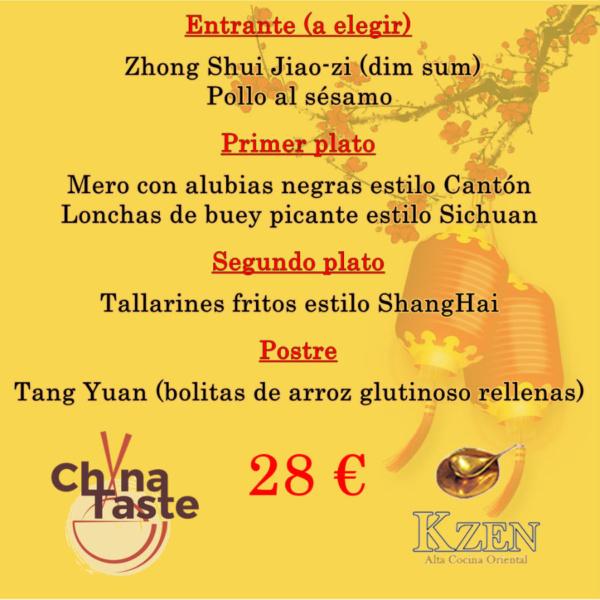 Menú del China Taste