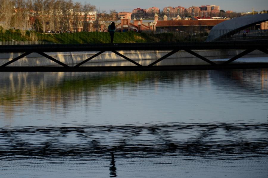 Entorno del Madrid Río al atardecer