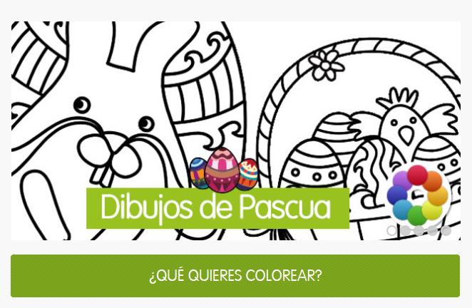 Dibujos de Pascua para colorear en vacaciones