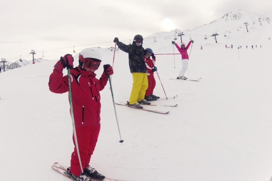 La nieve es el entorno más propicio para usar la GoPro