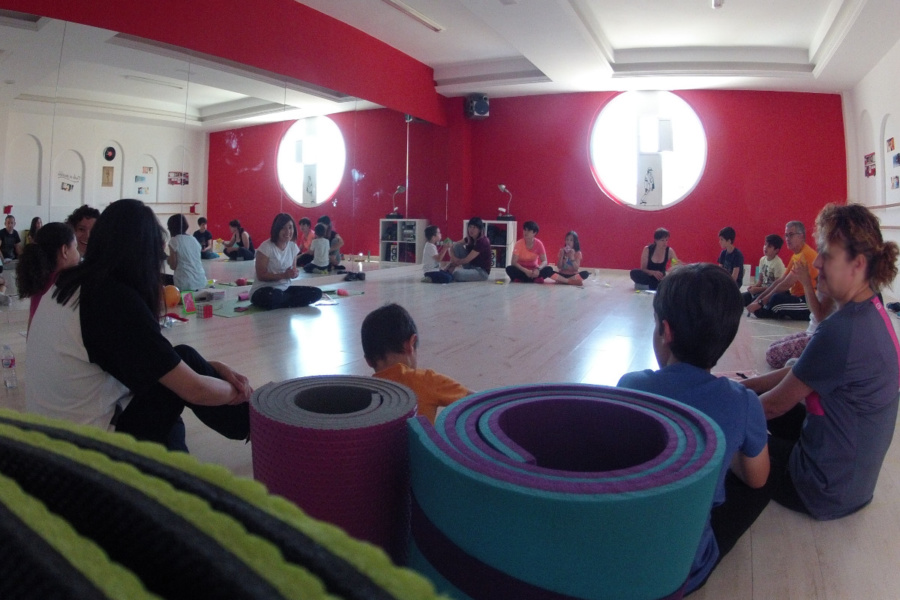 Sesión familiar de mindfulness