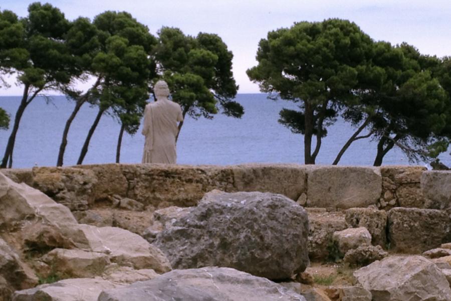 La visita a las ruinas romanas y griegas de Ampurias, en la Costa Brava ofrece paisajes tan maravillosos como éste...