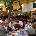 Comida típica en la pradera de San Isidro, en Madrid