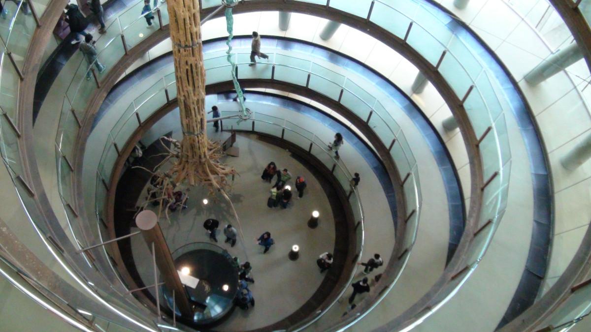 Espiral del Museo Cosmocaixa de Barcelona