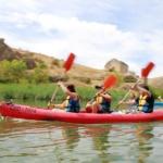 Cómo hacer piragüismo o canoas con niños en las Hoces del río Duratón