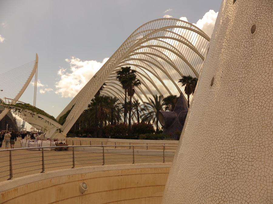 Vista de l'Umbracle, en la Ciudad de las Artes