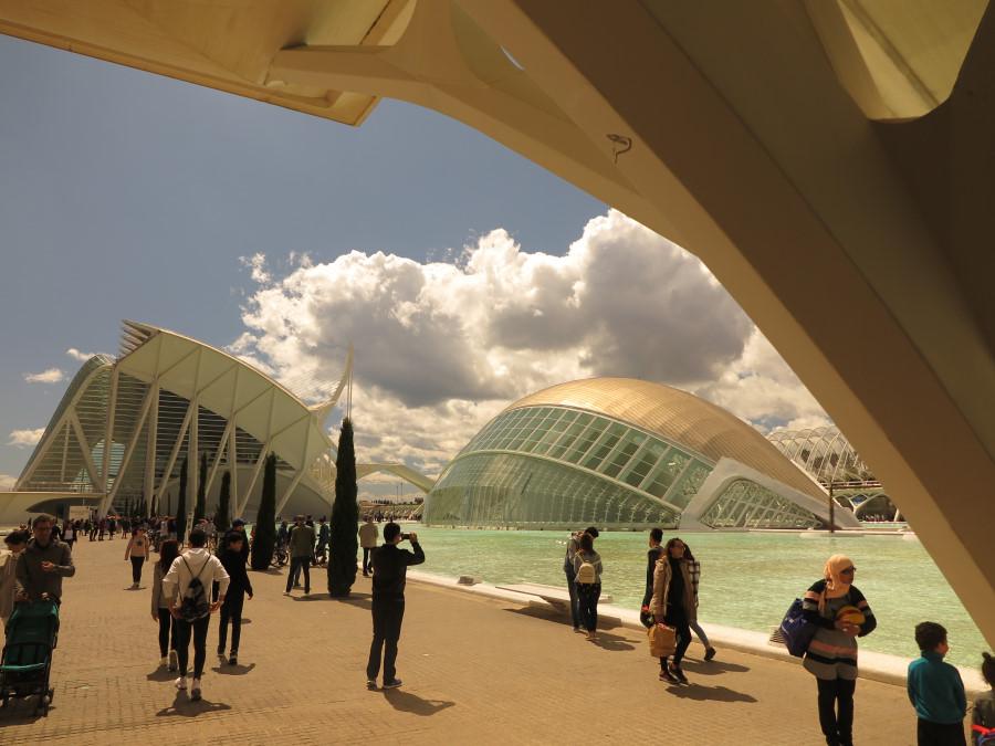 Vista de la Ciudad de las Artes y las Ciencias de Valencia