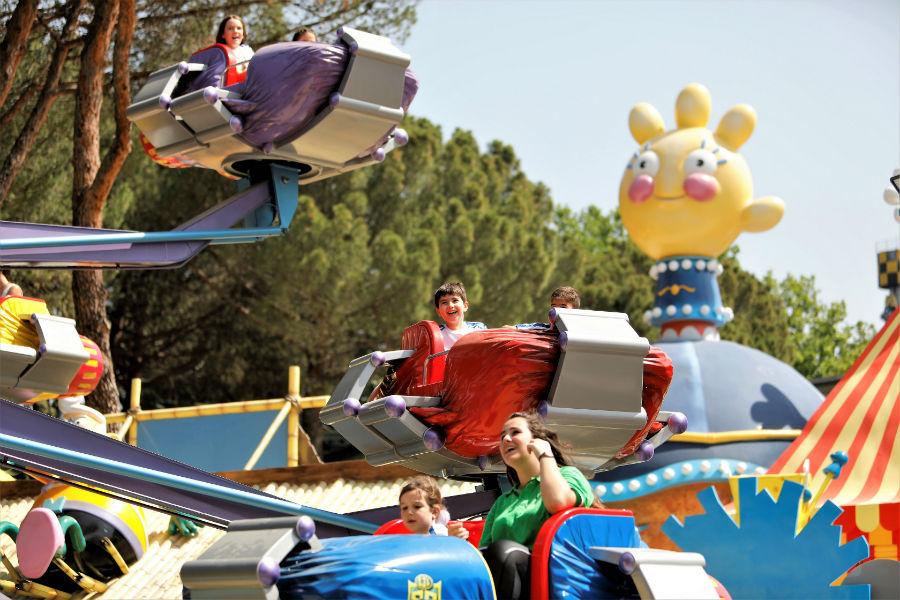 'Hero Spin', una nueva atracción infantil en el Parque de Atracciones