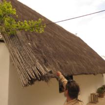 Techado de una barraca valenciana