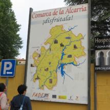 Plano de la región de La Alcarria