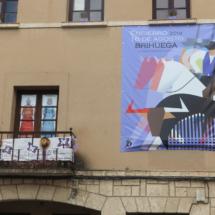 Cartel anunciando festejos en Brihuega