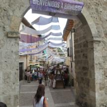 Calle de Brihuega durante el Mercado de la Lavanda