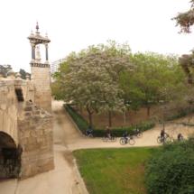 Puente 'de las escaleras', sobre el antiguo cauce del Turia, en Valencia