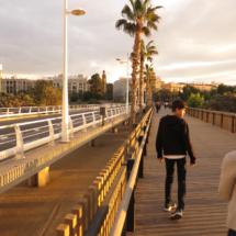 Puente 'de las flores', sobre el antiguo cauce del Turia, en Valencia