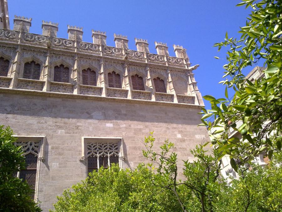 Jardín de los Naranjos de la Lonja de Valencia