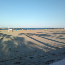 Playa de la Malvarrosa, al atardecer