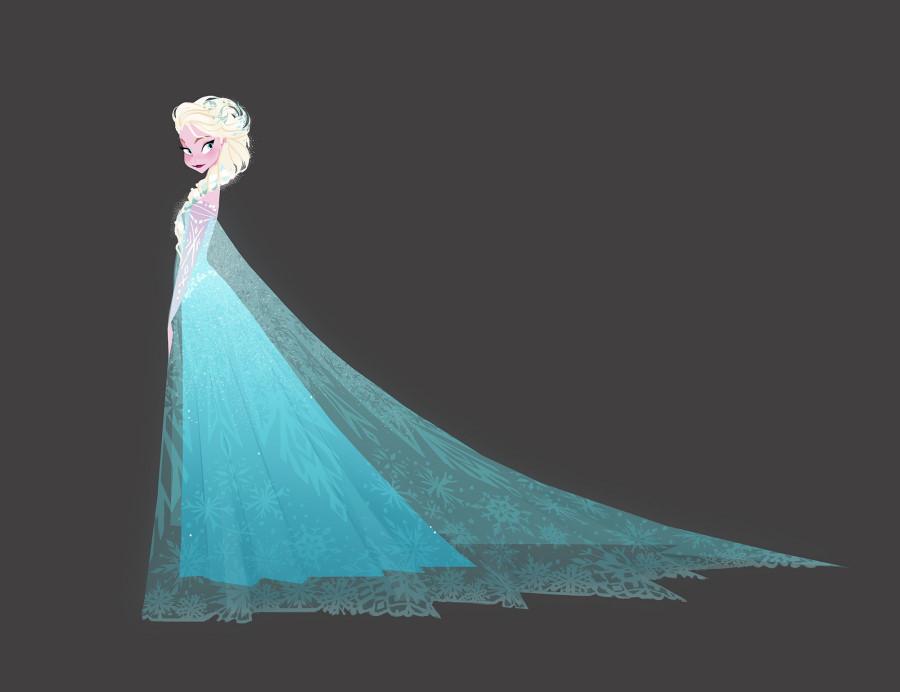 Ilustración de Frozen en la exposición sobre Disney en el Caixaforum de Madrid