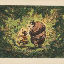 Ilustración antigua en la exposición sobre Disney en el Caixaforum de Madrid