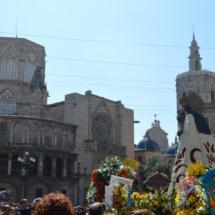 Plaza de la Virgen, después de la Ofrenda