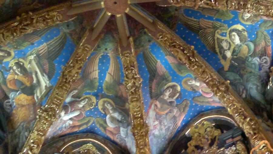 qDetalle de los frescos renacentistas de la catedral de Valencia