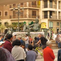 Fuente del Turia, en la Plaza de la Virgen