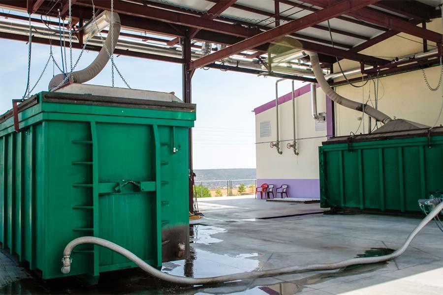 Tanque de lavanda en una destilería alcarreña