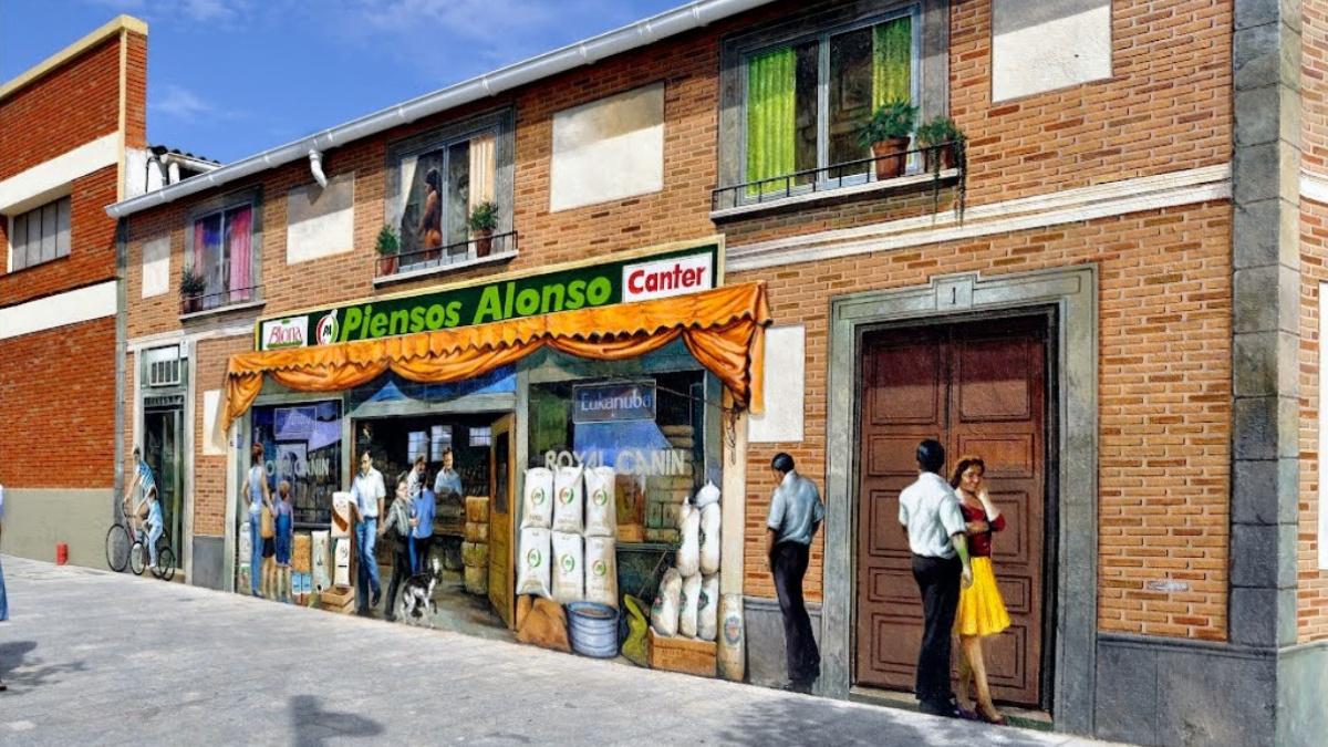 Fachada trampantojo de Navalcarnero, en la provincia de Madrid