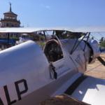 Primer plano de un avión de la base aérea de Cuatro Vientos