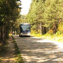 La subida hasta la Laguna Negra se puede realizar en autobús