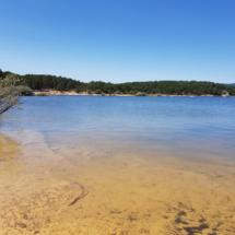 Vista genral de la Playa Pita, en Soria