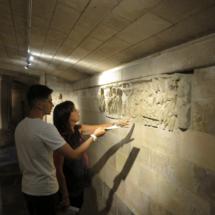 Relieves en la cripta de Santo Domingo de la Calzada