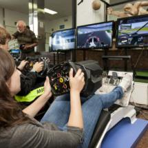 Simuladores de F1 en la Noche de los Investigadores 2017
