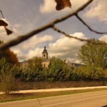 Vista del campanario del Monasterio del Paular