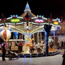 Plaza de Jaca en invierno