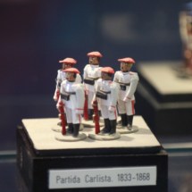 Detalle de unos soldaditos de plomo del museo de Jaca